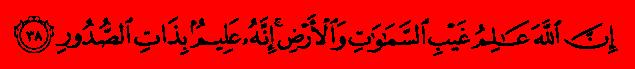 الآية رقم 38 من سورة  فاطر